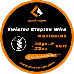 GEEKVAPE - TWISTED CLAPTON KANTHAL A1 - (28GA*2 + 32GA) - 15FT (5mt)