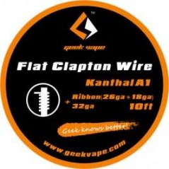 GEEKVAPE - FLAT CLAPTON WIRE RIBBON - (26GAX18GA)+32GA - 10FT (3mt
