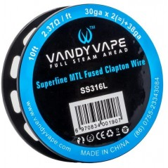 VANDY VAPE - SUPERFINE MTL FUSED CLAPTON SS316L - 10FT (3mt)