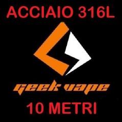 FILO - ACCIAIO SS316L - VARIE MISURE - 30FT (10mt) - GEEKVAPE