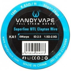 VANDY VAPE - SUPERFINE MTL CLAPTON NI80 - 10FT (3mt)
