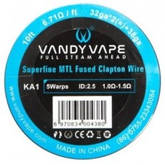VANDY VAPE - SUPERFINE MTL FUSED CLAPTON KA1 - 10FT (3mt)