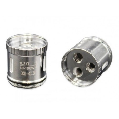TESTINA XL-C3 GREEN LIGHT-UP CHIP COIL PER LIMITLESS XL - 0,2 OHM - 3pz