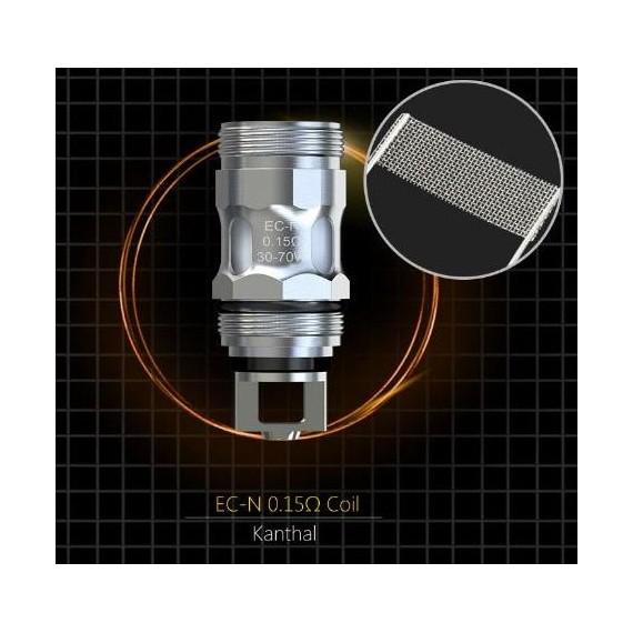 Coil di Ricambio EC-M EC-N Eleaf La testina e' progettata per gli atomizzatoriMelo 3/4 e kit ECMma e' compatibiletank che montano le coil della serie ECSonocoil EC Mesh con 2 tipi di maglia:Resistenza EC-N da 0,15ohm (range 30/70W);Resistenza EC-M da 0,15ohm (range30/75W).La restistenza MESH genere molto vapore ed un aroma piu' intenso Eleaf